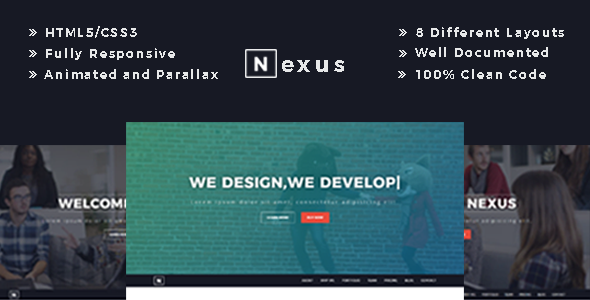 Nexus – Responsive One Page Business Template – Corporate Site Templates TFx Dewayne Sigmund