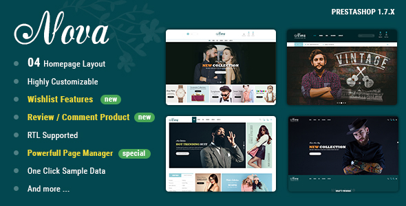 Nova – PrestaShop 1.7 Theme For Fashion Templates – Fashion PrestaShop TFx Lake Eko
