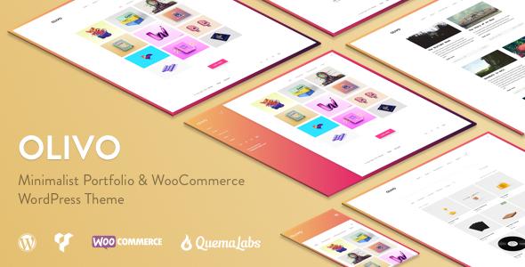 Olivo – Minimalist Portfolio & WooCommerce Theme – Creative WordPress TFx Bademus Harlan