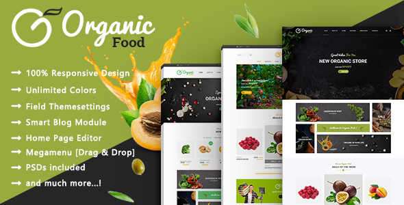 Organic – Food & Healthy Responsive Prestashop 1.7 Theme – Health & Beauty PrestaShop TFx Rouben Mansur