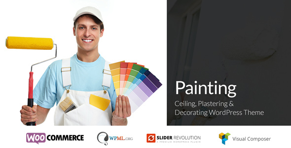 Painting - Ceiling & Decorating WordPress Theme - Business Corporate TFx Landon Deacon