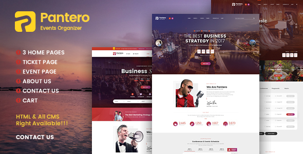 Pantero - Event & Conference PSD Template - Events Entertainment TFx Franny Travers