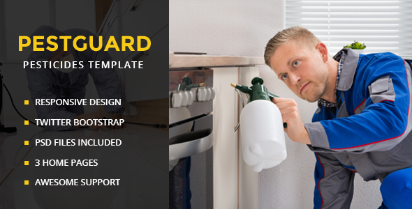 PestGuard – Responsive Pest Control HTML Template – Business Corporate TFx Channing Arnold