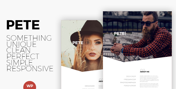 Pete - Creative & Clean Portfolio WordPress Theme - Creative WordPress TFx Rudyard Burt