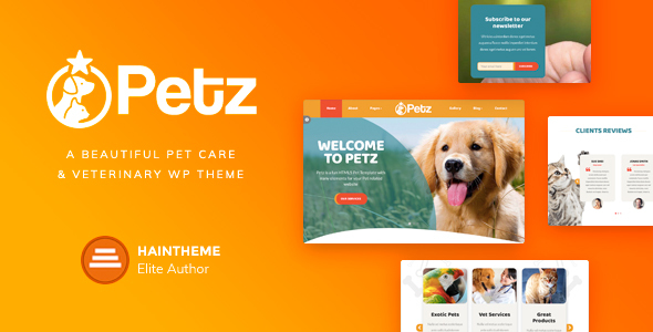 Petz - Pet Care, Shop & Veterinary Theme TFx Setiawan George