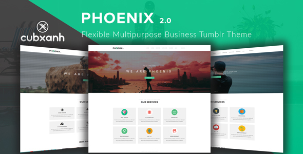 Phoenix - Flexible Multipurpose Business Tumblr Theme - Business Tumblr TFx Russell Marcus
