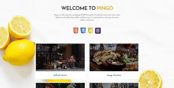 Pingo - Responsive Restaurant and Bar Template - Restaurants & Cafes Entertainment TFx Monte Jem