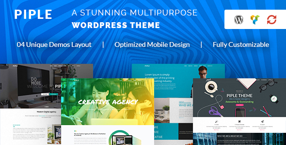 Piple - Creative Multipurpose WordPress Theme - Business Corporate TFx Carter Porter