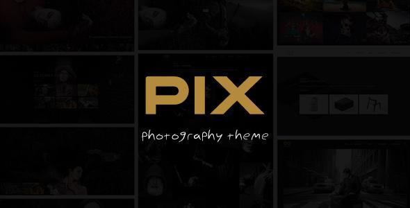 Pix - Photography Studio WordPress Theme - Photography Creative TFx Ross Barnaby