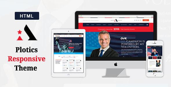 Politics - Political HTML Template - Political Nonprofit TFx Dawson Loren