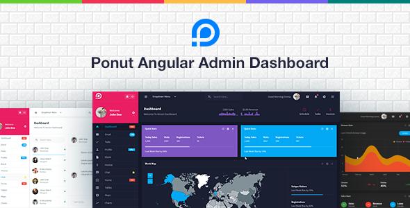 Ponut - Angular Admin Dashboard - Admin Templates Site Templates TFx Dana Jocelyn