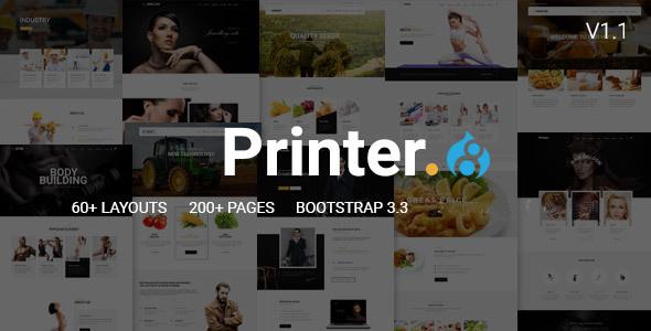 Printer - Responsive Multi-Purpose Drupal 8 Theme - Corporate Drupal TFx Diocletian Adam