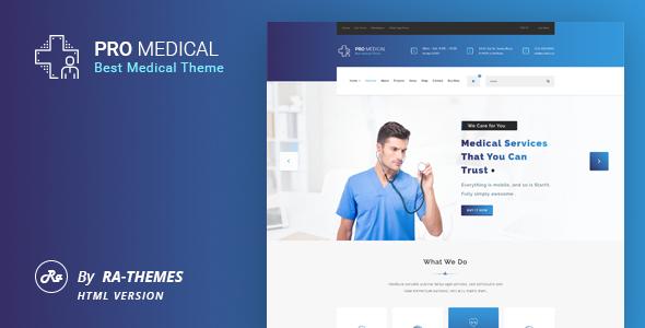ProMedical - Health And Medical HTML Template - Health & Beauty Retail TFx Leroi Nobu