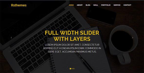 RS-PORTFOLIO Landing Page HTML Template - Portfolio Creative TFx Royle Garen