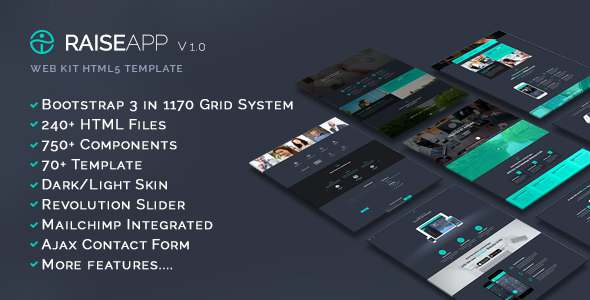 RaiseApp - UI Kit & Website Template - Creative Site Templates TFx Harper Ritchie