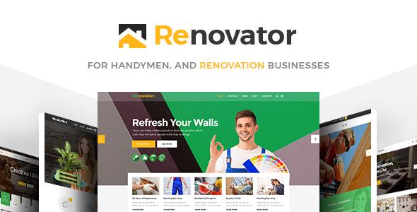 Renovator - A Theme for Repairman, Contractors and Renovation Businesses TFx Cahaya Napoleon
