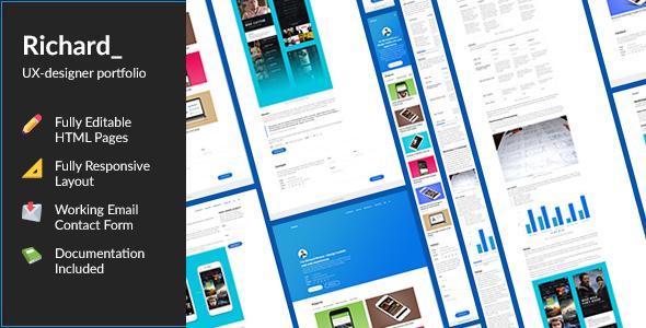 Richard — UX Designer ResumePortfolio HTML Template - Portfolio Creative TFx Malcom Ari
