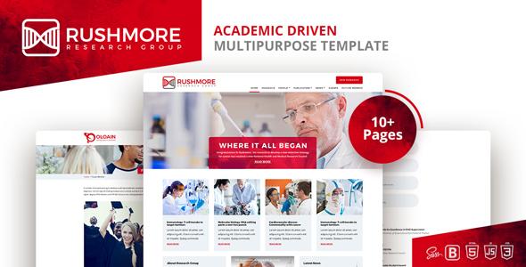 Rushmore-Academic Driven  Multipurpose Template - Corporate Site Templates TFx Jarrett Lenox