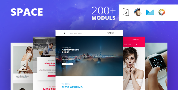 SPACE - Responsive Email Template Minimal TFx Cowessess Knox