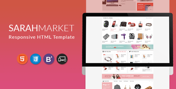 SarahMarket – HTML Template for Supermarket, Large store, Groceries, Aliexpress - Retail Site Templates TFx Wilburn Ronnie