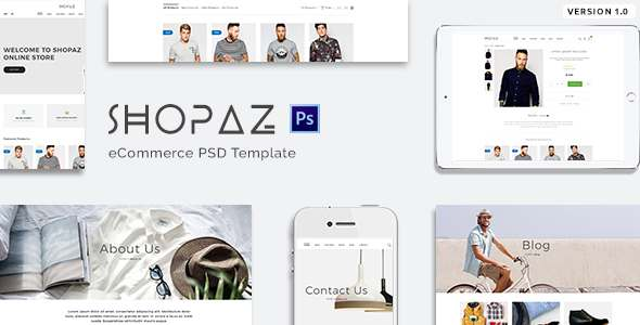 Shopaz - eCommerce PSD Template - Retail PSD Templates TFx Quintin Orval