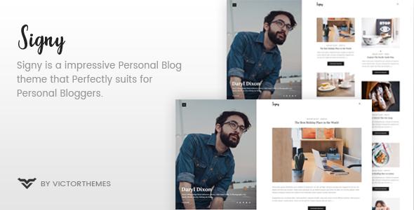 Signy - A Personal Blog WordPress Theme - Personal Blog / Magazine TFx Garry Jake