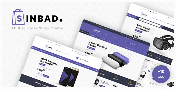 Sinbad - Electronics eCommerce PSD Template - Retail PSD Templates TFx Fitzroy Eldred