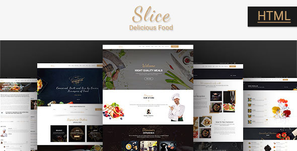 Slice Restaurant - Responsive Bootstrap Template - Food Retail TFx Gore Micheal
