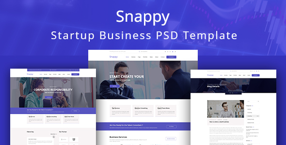 Snappy - Easy Startup Business PSD Template - Business Corporate TFx Merlyn Larry