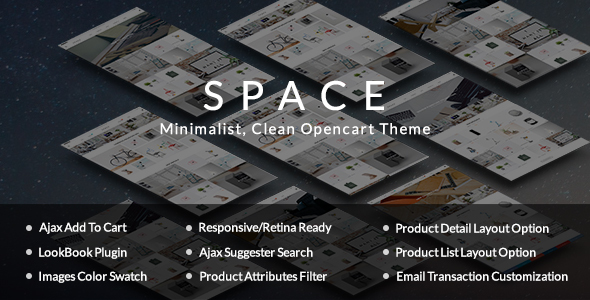 Space – Minimalist, Clean Opencart Theme – Shopping OpenCart TFx Juro Malik