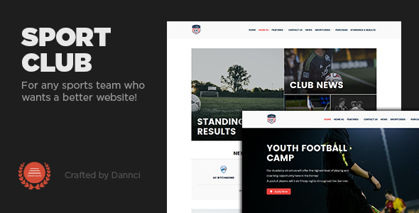 Sport Club - A  WP Theme For Your Small, Local Team - Nonprofit WordPress TFx Patton Radclyffe