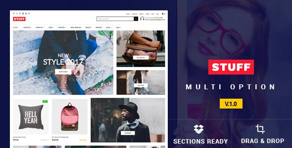 Stuff - Responsive Shopify Theme - Shopify eCommerce TFx Den Mason