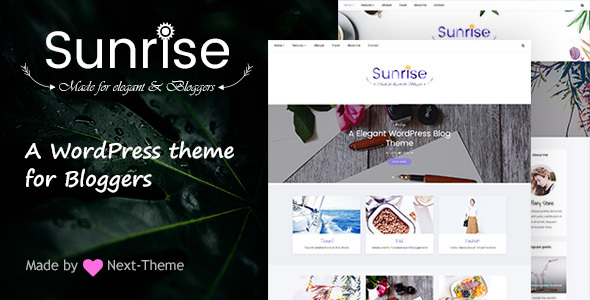 Sunrise - An Elegant WordPress Blog Theme - Personal Blog / Magazine TFx Ulric Kiaran