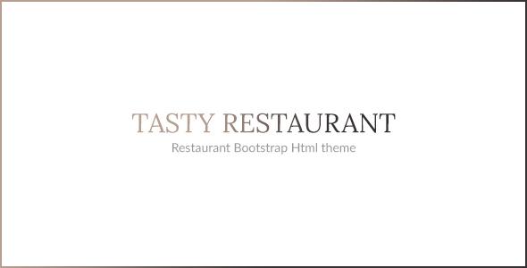 TASTY - RESTAURANT HTML TEMPLATE - Restaurants & Cafes Entertainment TFx Lucius Camden
