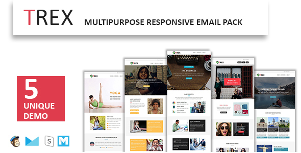 TREX - Multipurpose Responsive Email Pack - Newsletters Email Templates TFx Lothair Isadore