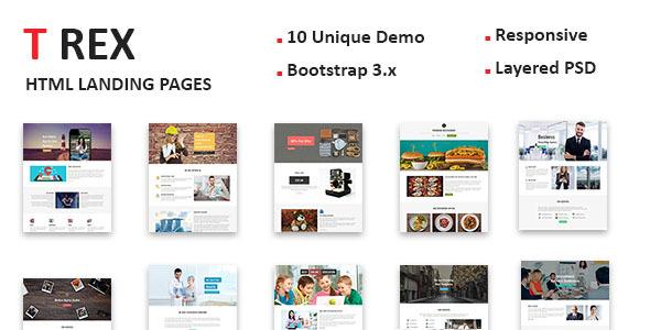 TREX - Multipurpose Responsive HTML Landing Pages - Landing Pages Marketing TFx Kendall Hyram