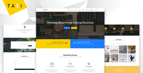 Tasi - Responsive One Page HTML Template - Business Corporate TFx Jeffrey Godfrey