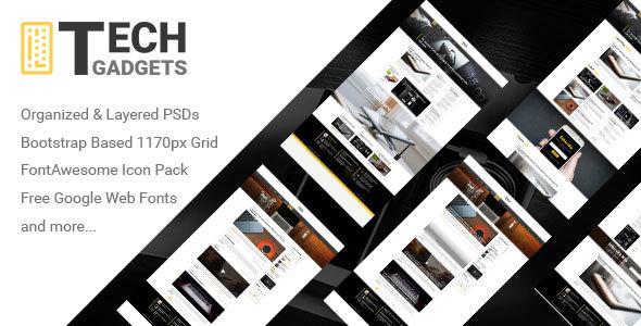 Tech Gadgets - Tech Blog Design TFx PSDTemplates Lachlan Robbie