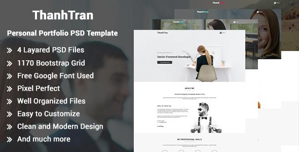 ThanhTran-Personal Portfolio PSD Template - Portfolio Creative TFx Emil Odin