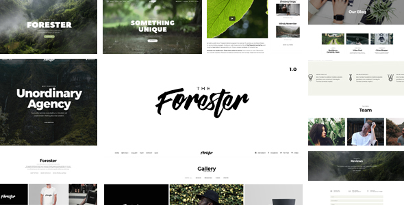 The Forester - Responsive Multi-Purpose HTML5 Template - Creative Site Templates TFx Takeshi Poghos