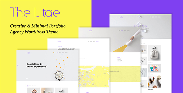 The Litae - Creative & Minimal Portfolio WordPress Theme - Creative WordPress TFx Masaru Shelly