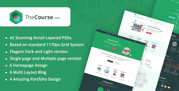 TheCourse | Multipurpose Education PSD Template TFx Art Ariel