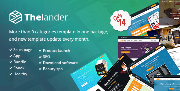 Thelander Multiple Concept Landing Page Template - Retail Landing Pages TFx Ormonde Cuthbert