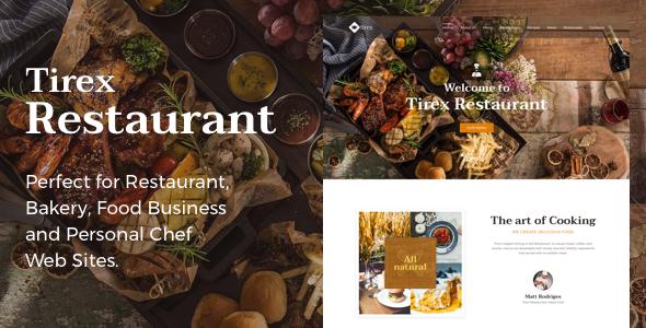 Tirex Restaurant - Theme for Restaurants and Cafes - Restaurants & Cafes Entertainment TFx Johnathon Jarrett