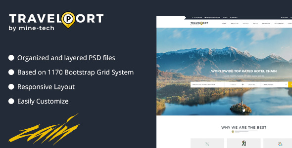 Travelport Property Booking PSD Template - Travel Retail TFx Jerry Philip