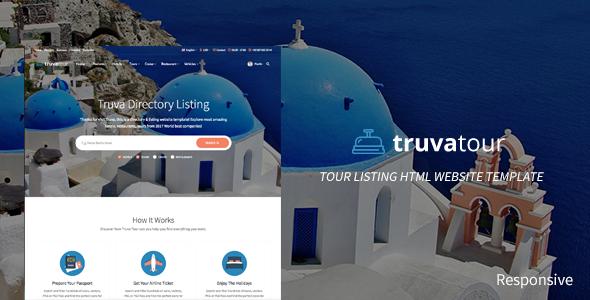 TruvaTour Responsive Travel Directory Listing Template - Travel Retail TFx Julius Harta