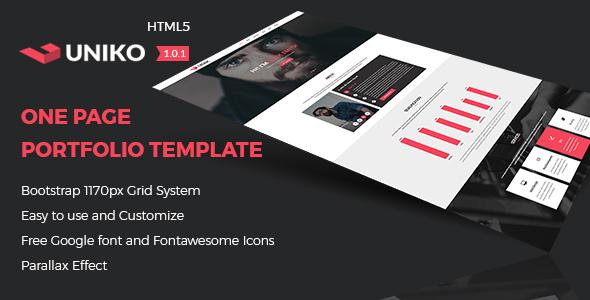 UNIKO - Personal and Portfolio HTML5 Template - Portfolio Creative TFx Claude Ron
