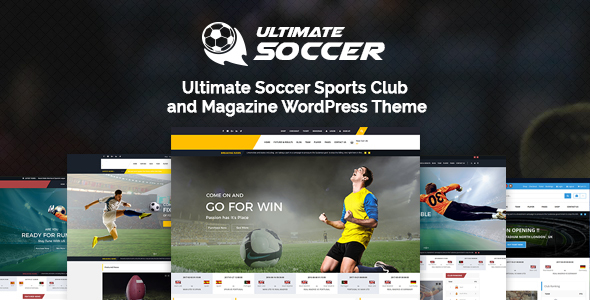 Ultimate Soccer News Magazine WordPress Theme - Sports Club - Nonprofit WordPress TFx Livy Joby