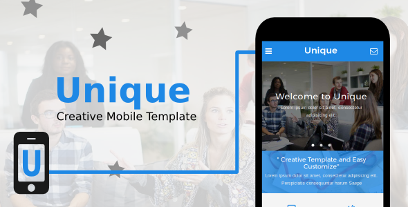 Unique - Creative Mobile Template - Mobile Site Templates TFx Ayden Alger