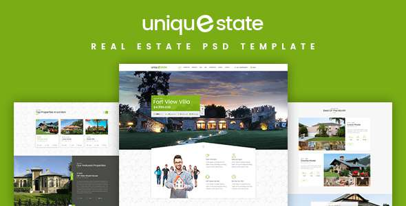 Unique - Real Estate Landing Page PSD TFx Thorley Nash
